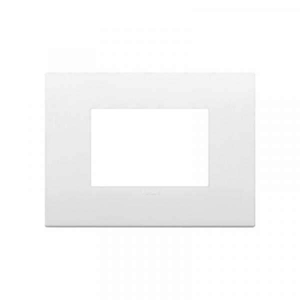 Placa Classic 3 módulos tecnopolímero BLANCA