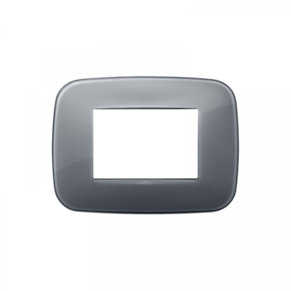 Placa Round 3 módulos réflex GRIS HUMO