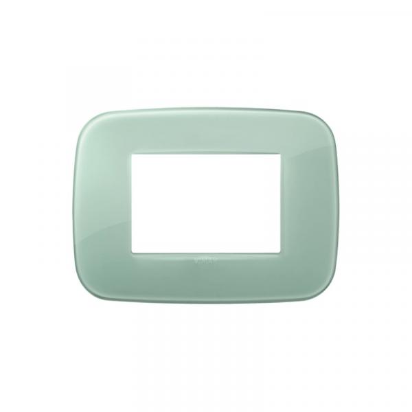 Placa Round 3 módulos réflex VERDE SALVIA