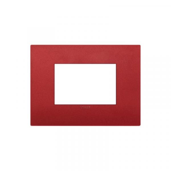 Placa Classic 3 módulos tecnopolímero ROJA