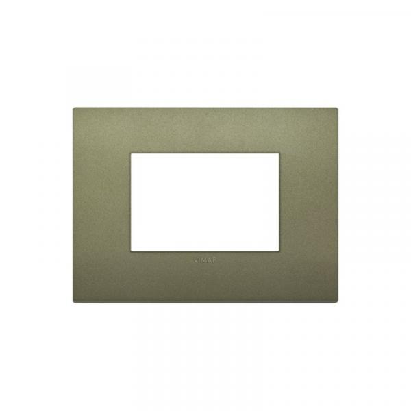 Placa Classic 3 módulos tecnopolímero VERDE MATE