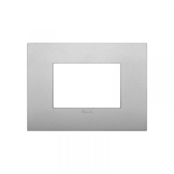 Placa Classic 3 módulos tecnopolímero SILVER