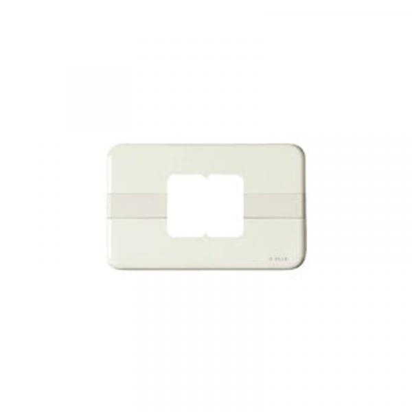 Placa marfil 2 módulos
