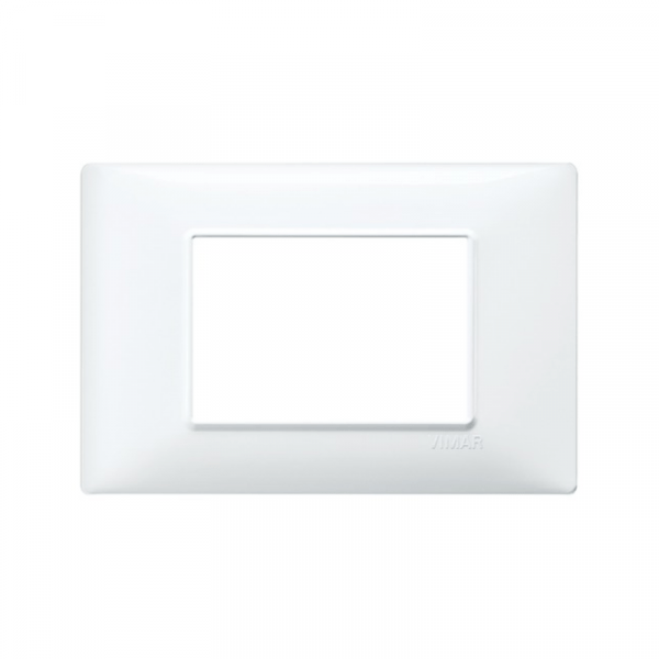 Placa 3 módulos tecnopolímero blanca