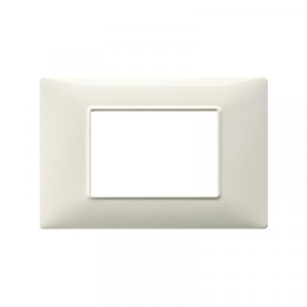 Placa 3 módulos tecnopolímero granito