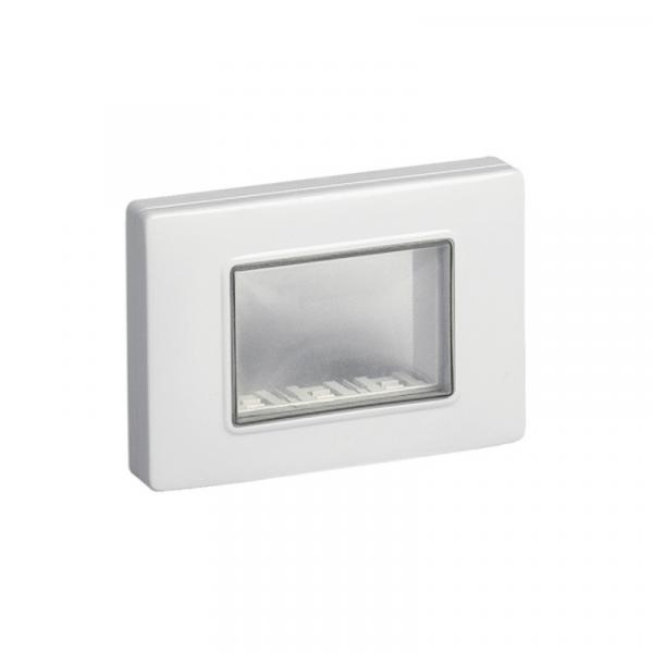 Tapa placa gris 3 módulos IP55 con protector
