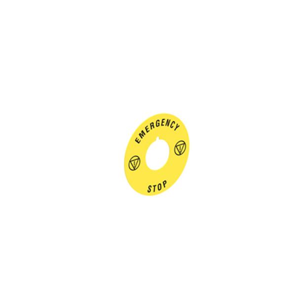 Disco Plástico Stop-Emergencia 60mm