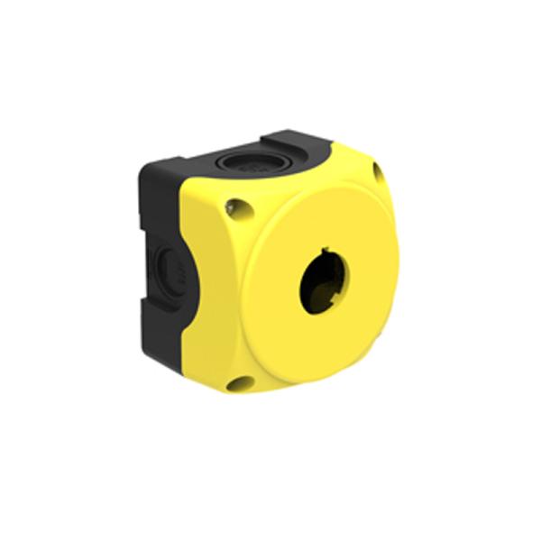 Botonera 1 agujero 22mm amarillo IP67-IP69K