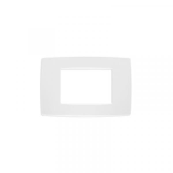 Placa blanca 3 módulos