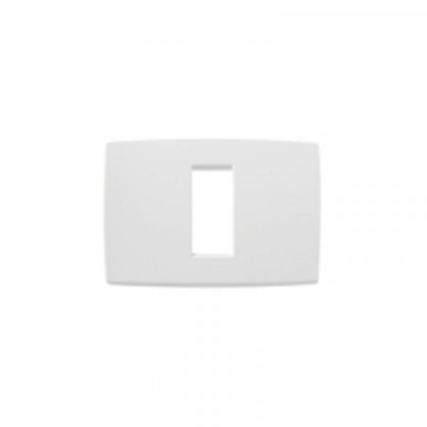 Placa blanca 1 módulo
