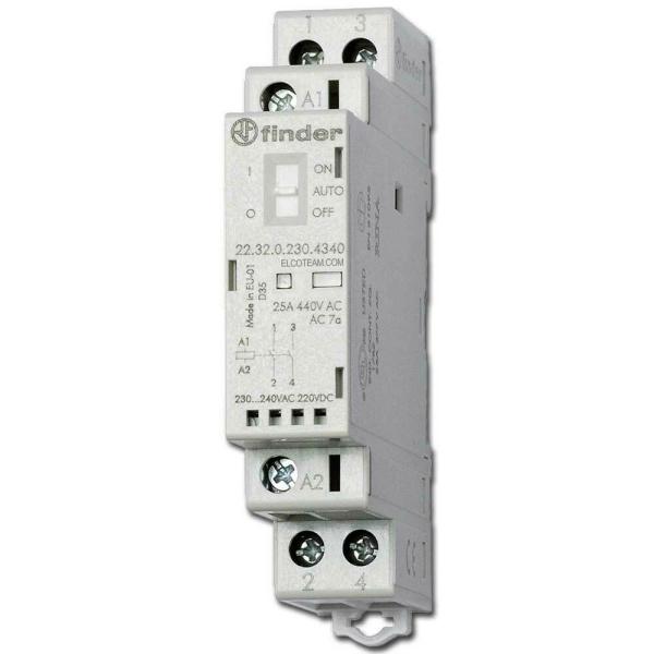 Contactor modular 2NA 25A 230VCA