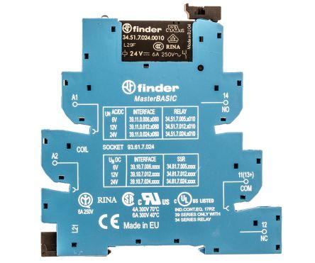 Interfaz modular con relé 24VCA/VCC