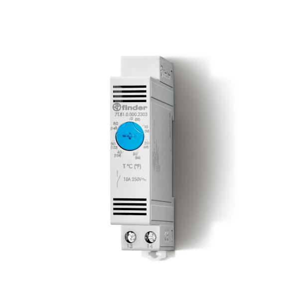 Termostato de cuadro 0-60º 10A/na ventilador