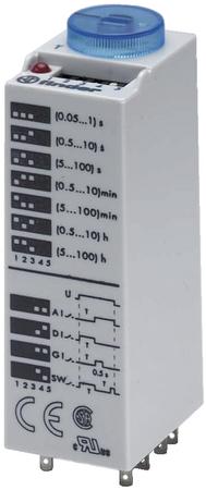 Temporizador enchufables multifunción 125V AC/DC 3 contactos