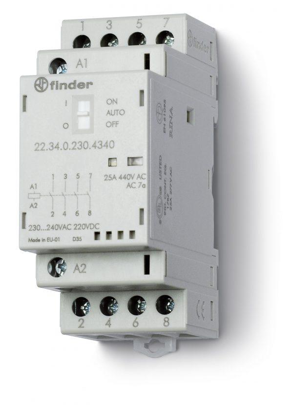Contactor modular 4NA 25A 230VCA