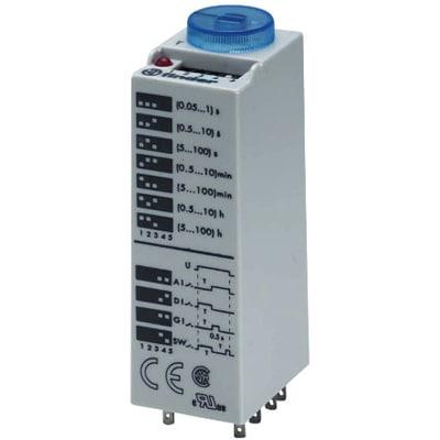 Temporizador enchufables multifunción 125V AC/DC 4 contactos