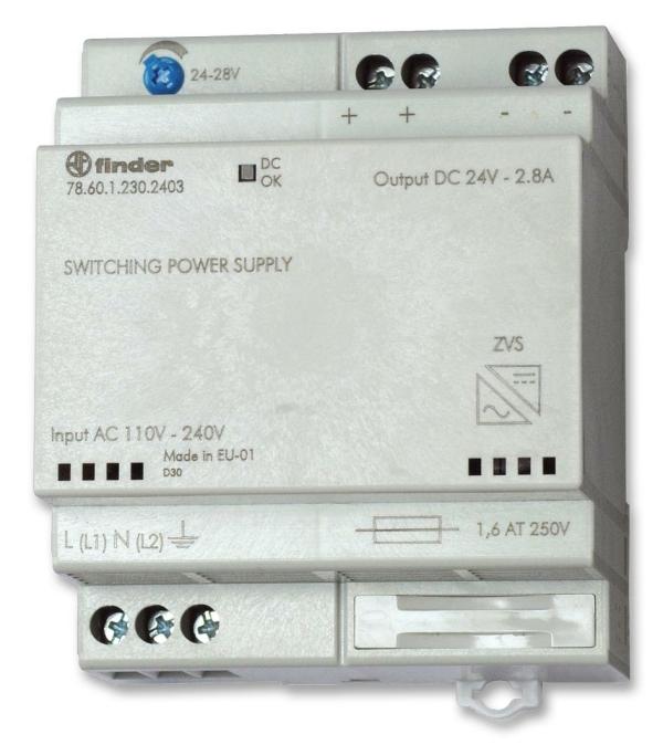 Fuente de alimentación conmutada 24VDC 2,5A 230V