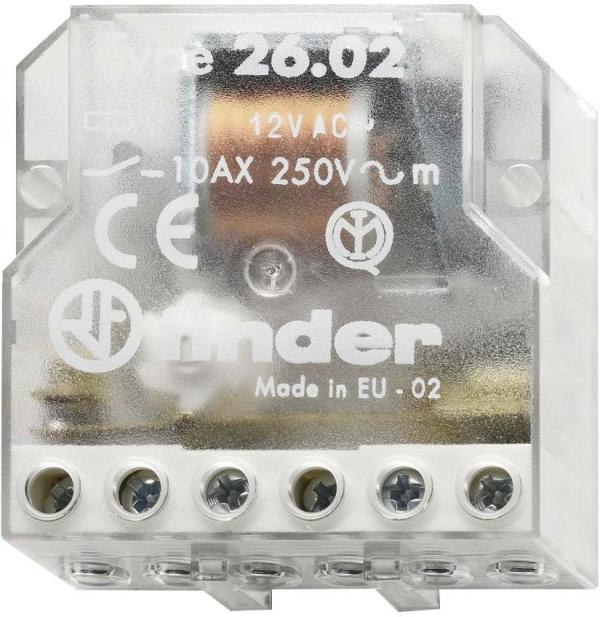 Telerruptor para embutir 10A 230VCA 2 contactos