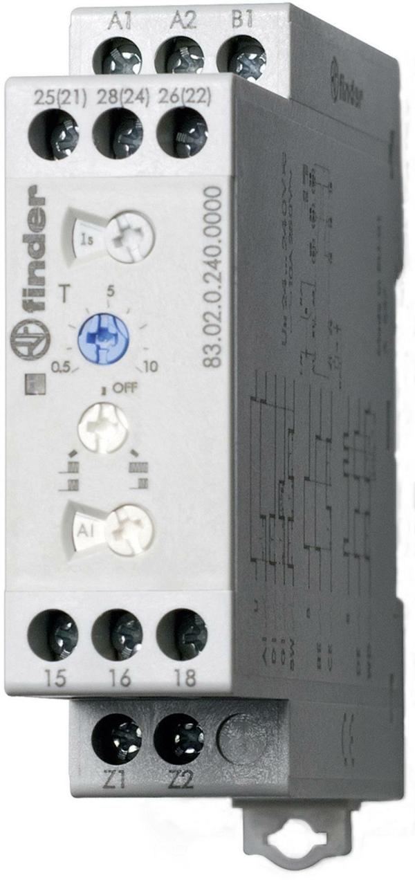 Temporizador multifunción 24-240V AC/DC 2 contactos