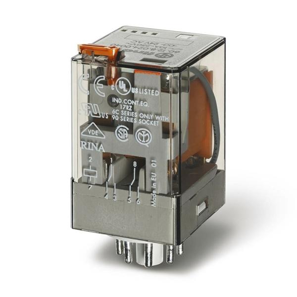 Relé industrial 2INV 10A 110VCC