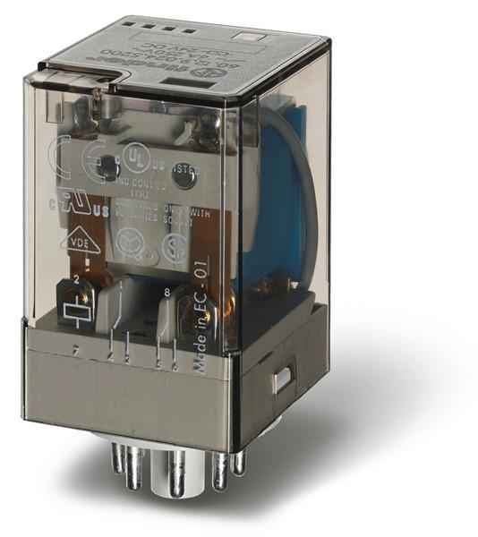 Relé industrial 2INV 10A 24VCC